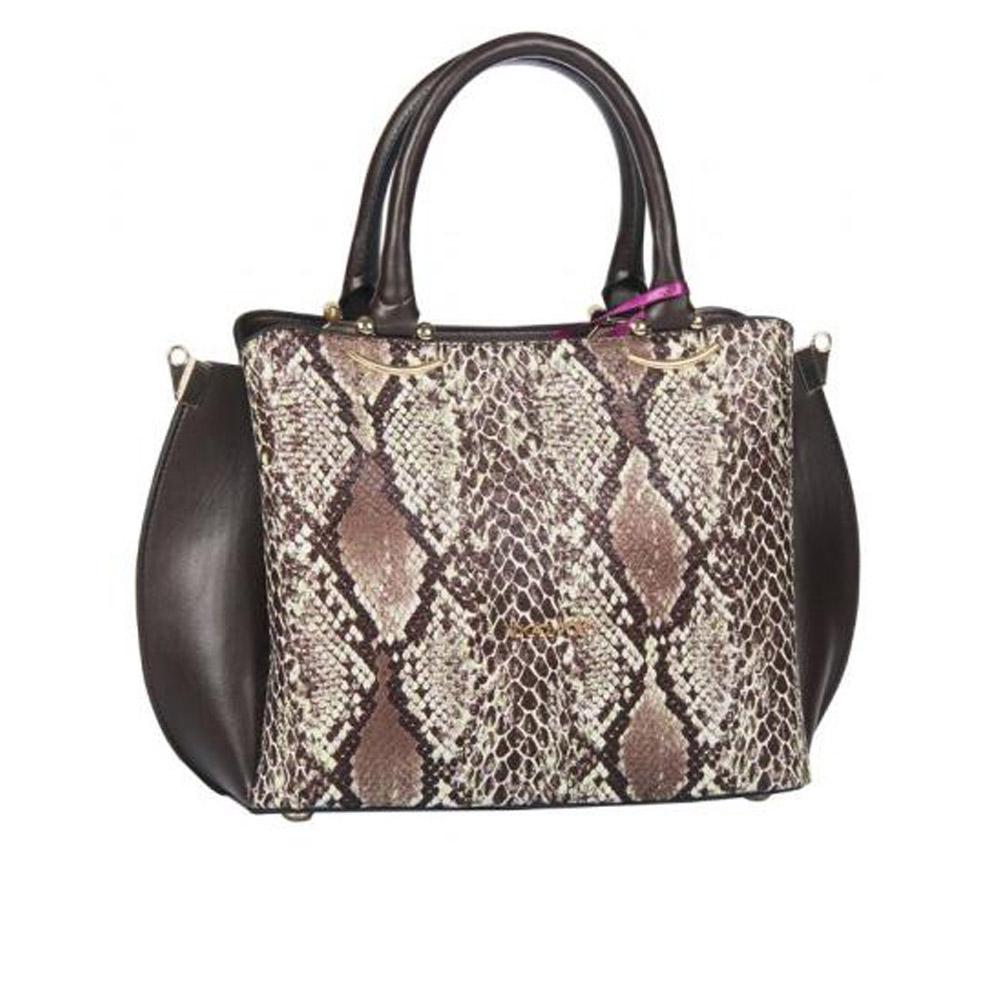 Women's Handbags brown snake color ANG-8225
