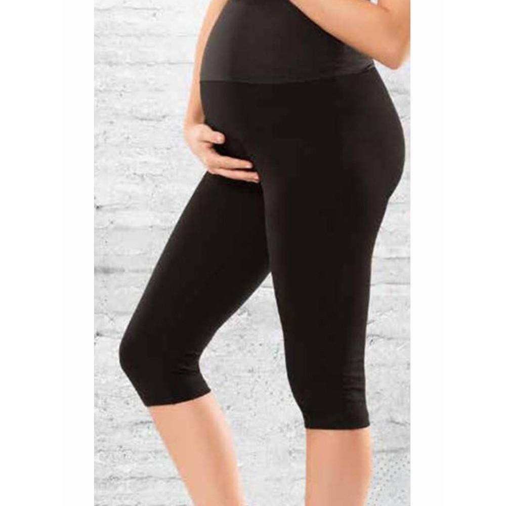 PREGNANT CAPRI TIGHTS BLACK COLOR EMN-964